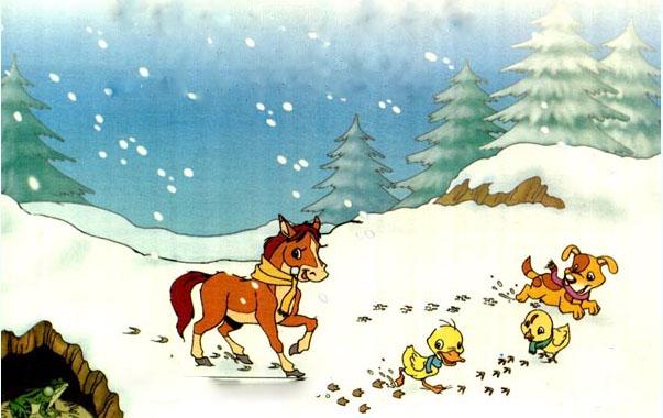 第十七课 雪地里的小画家图片