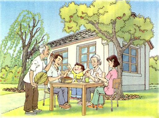 春天杨柳卡通图片