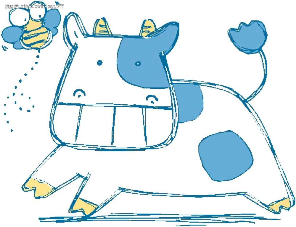 画一只简单又可爱的牛